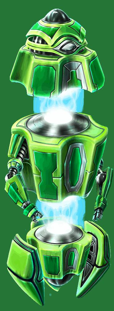 Wild-O-Tron 3000 video slot gokkast - Groene robot symbool