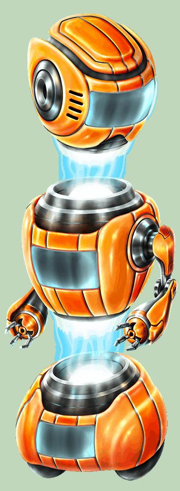 Wild-O-Tron 3000 video slot gokkast - Oranje robot symbool