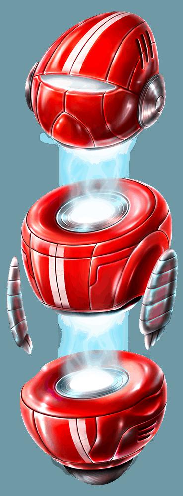 Wild-O-Tron 3000 video slot gokkast - rode symbool