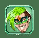 Carnival Queen video slot gokkast - Groene character symbool