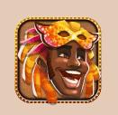 Carnival Queen video slot gokkast - Oranje character symbool