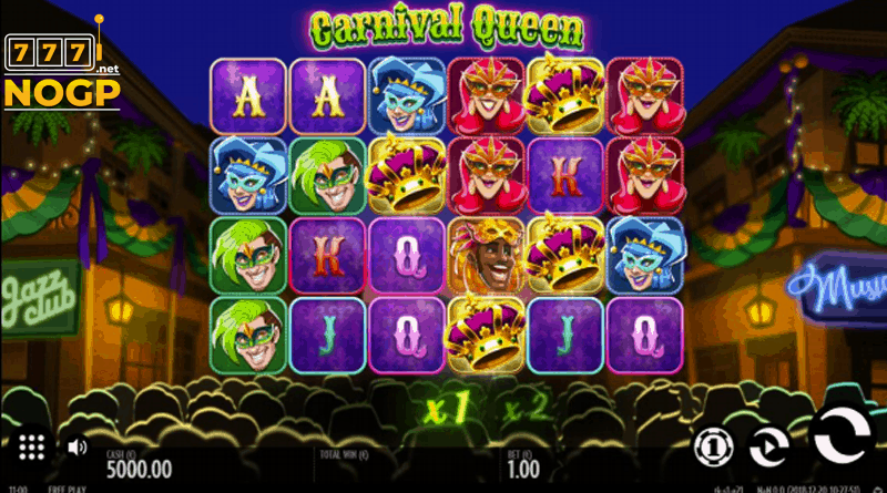 Carnival Queen slot screenshot