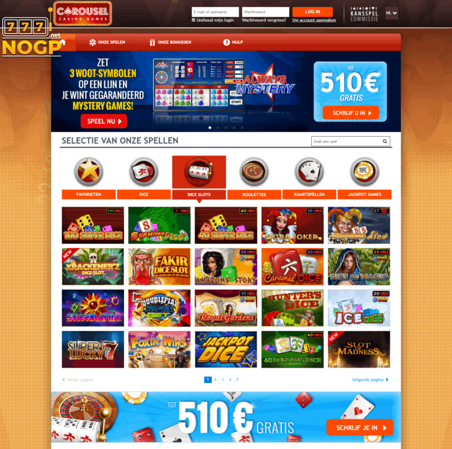 Carousel casino screenshot