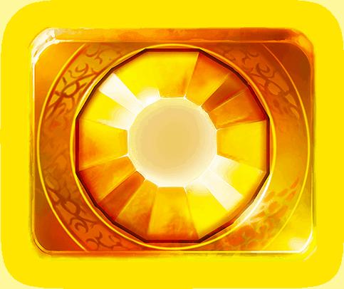 Gemtastic video slot gokkast - Gele edelsteen symbool