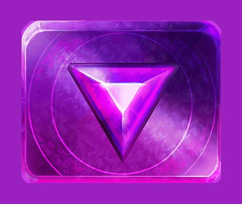 Gemtastic video slot gokkast - Paarse edelsteen symbool