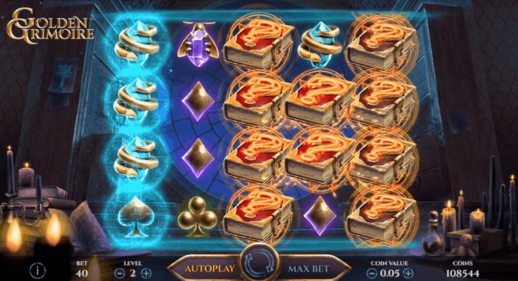 Golden Grimoire slot NetEnt