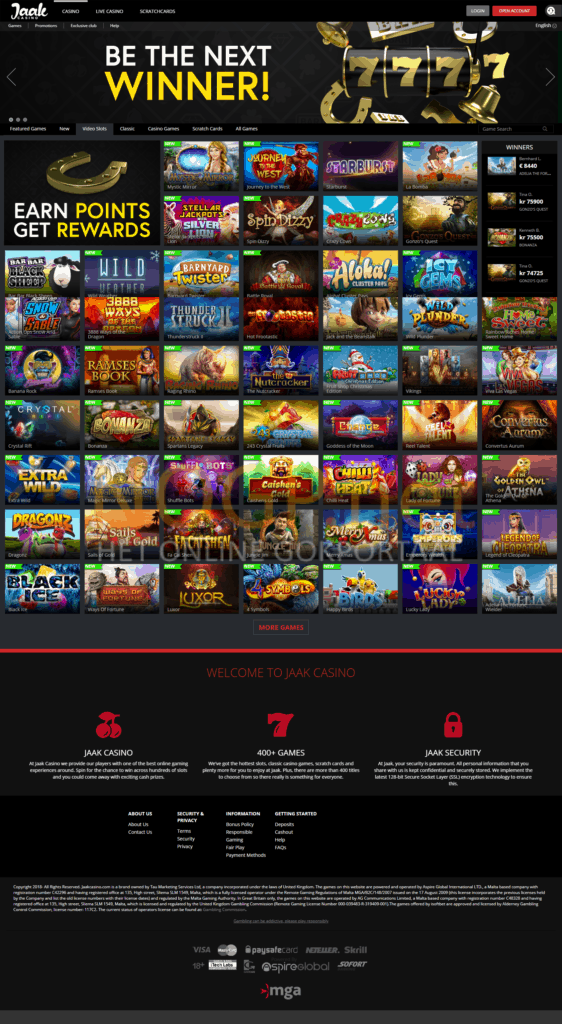 Jaak Casinohomepage