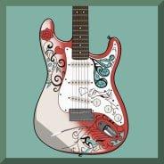 Jimi Hendrix video slot gokkast - Red Guitar symbool