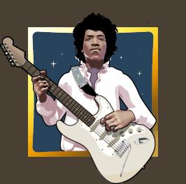 Jimi Hendrix video slot gokkast - Scatter symbool