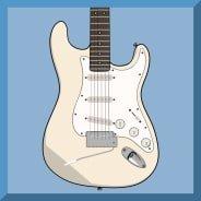 Jimi Hendrix video slot gokkast - White Guitar symbool