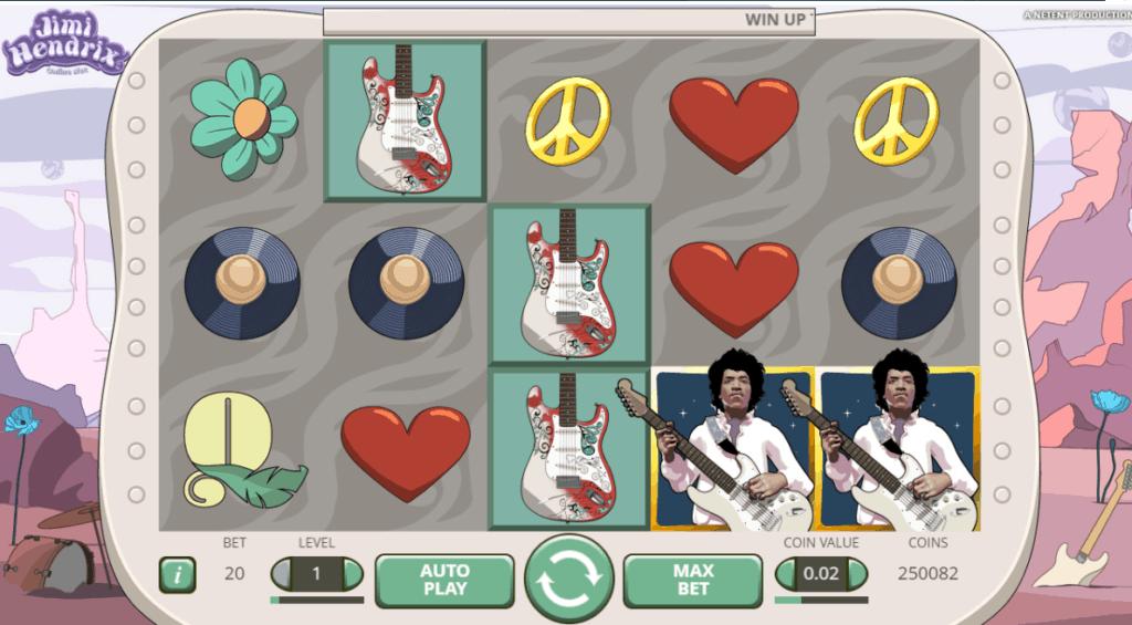 Jimi Hendrix video slot screenshot