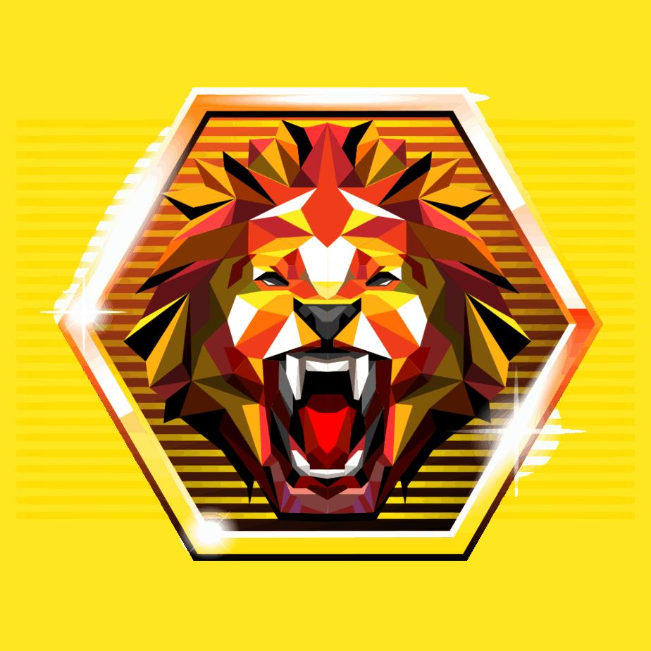 Neon Staxx video slot gokkast - Leeuw symbool