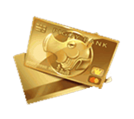 Piggy Riches video slot gokkast - Creditcard symbool