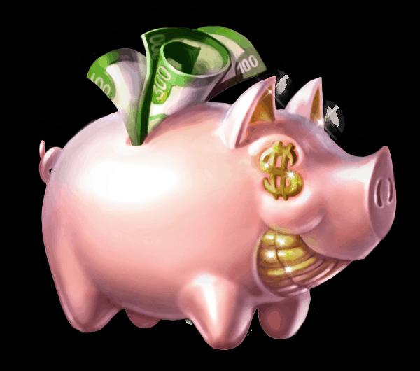 Piggy Riches video slot gokkast - Spaarpot symbool