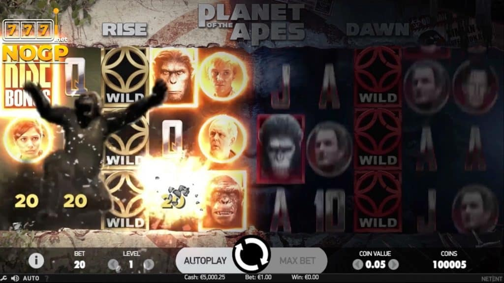 Planet of the Apes gokkast - Rise gratis spins