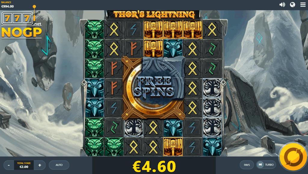 Thor's Lighting video slot screenshot