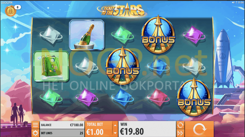 Ticket to the Stars video slot screenshot