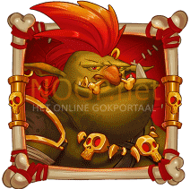 Troll Bridge video slot gokkast - Rode troll symbool