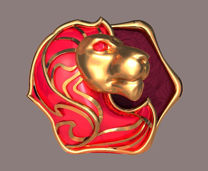 Turn your Fortune video slot gokkast - leeuw symbool