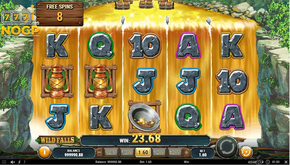 Wild Falls gokkast - River of Gold gratis spins