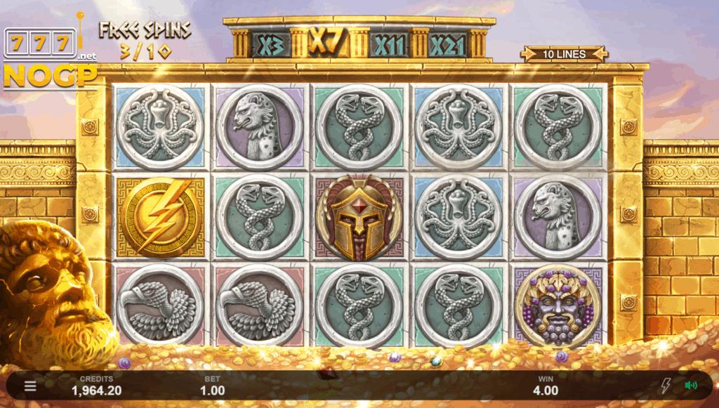 Ancient Fortunes: Zeus slot - Gratis spins feature