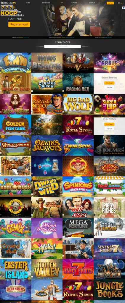 Online slots bij Casino Cruise