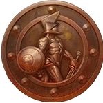 Champions of Rome video slot - Bronze coin symbol
