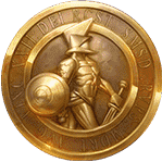 Champions of Rome video slot - Golden coin symbol