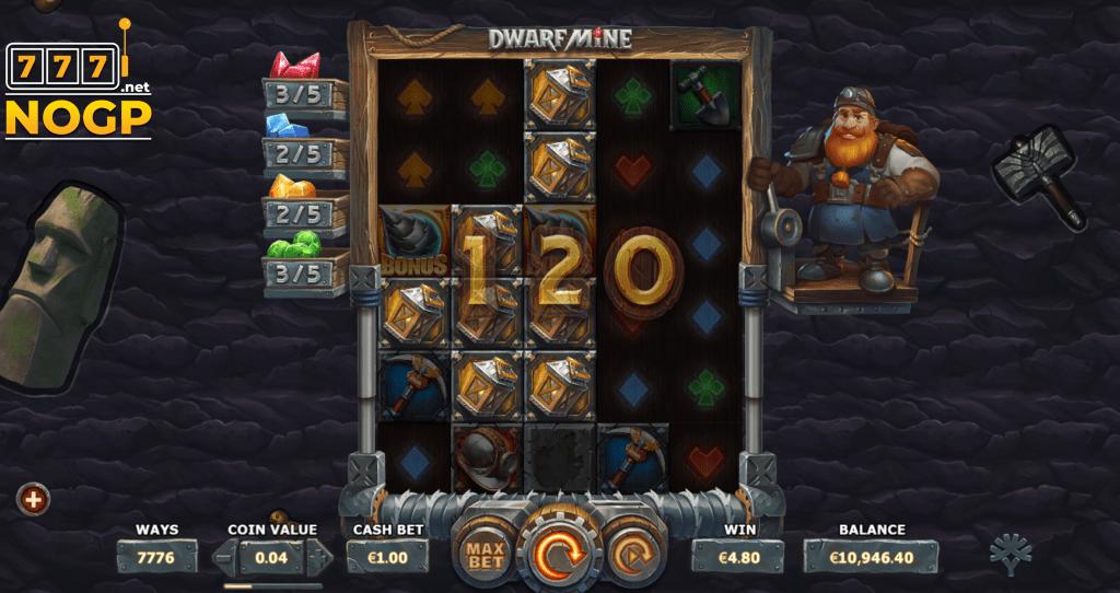 Dwarf Mine slot - extra rijen