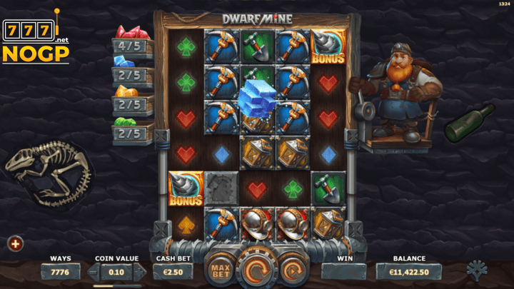 Dwarf Mine video slot screenshot