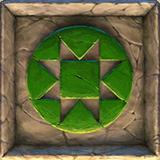 Ecuador Gold video slot - Green carved stone symbol