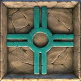 Ecuador Gold video slot - Blue carved stone symbol