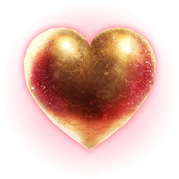 Golden Grimoire video slot - Heart symbol