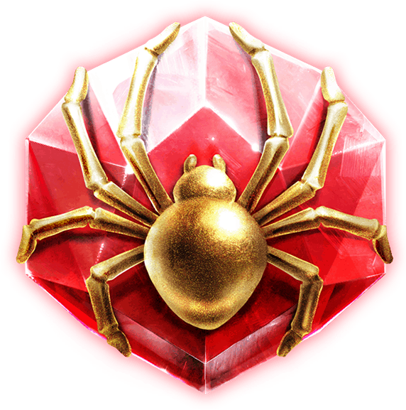 Golden Grimoire video slot - Spider symbol