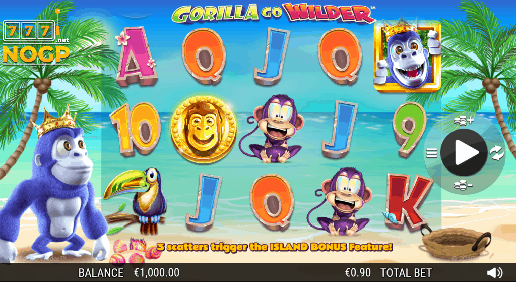 Gorilla Go Wilder slot screenshot