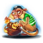 Pirates Plenty slot - Wild Monkey Symbol