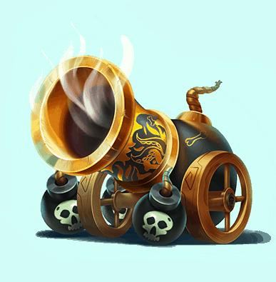 Pirates Plenty slot - Cannon symbol