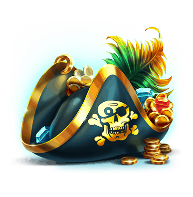 Pirates Plenty Battle for Gold - Pirate hat symbol