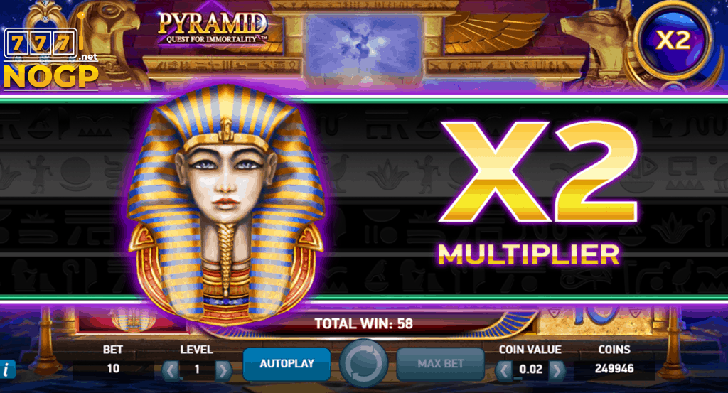 Pyramid slot Avalanche Multiplier feature