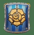 Queens Day Tilt video slot - Blue shield symbol