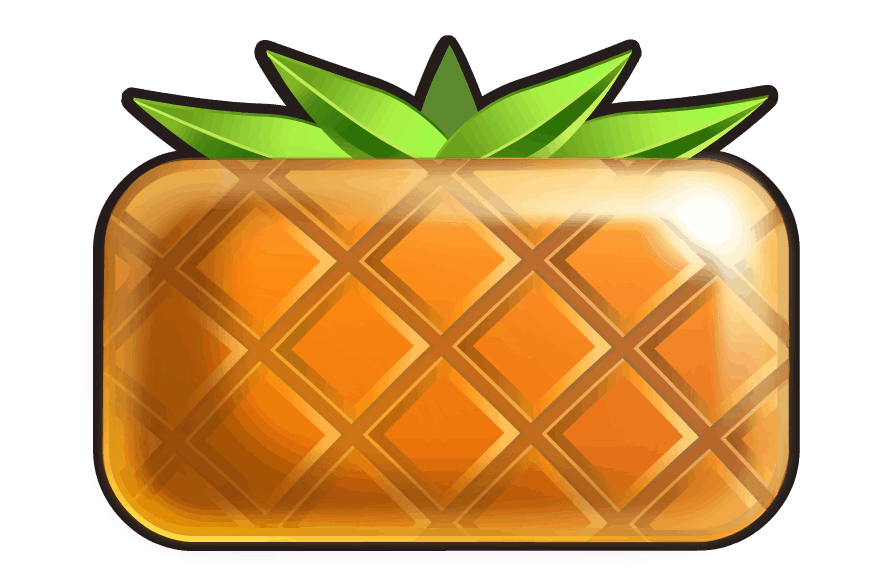 Reel Rush video slot - Ananas symbool