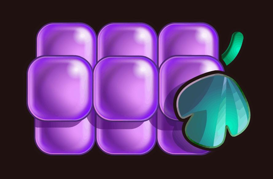 Reel Rush video slot - Druiven symbool