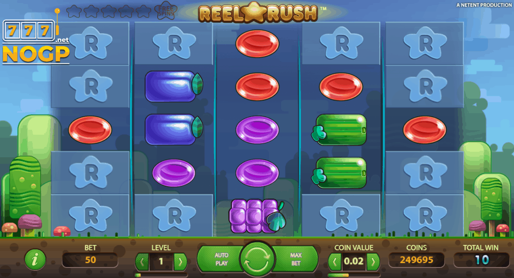 Reel Rush video slot screenshot