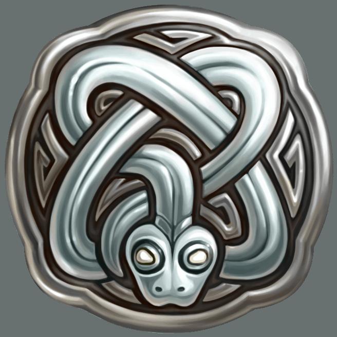 Secret of Stones video slot - Snake symbol