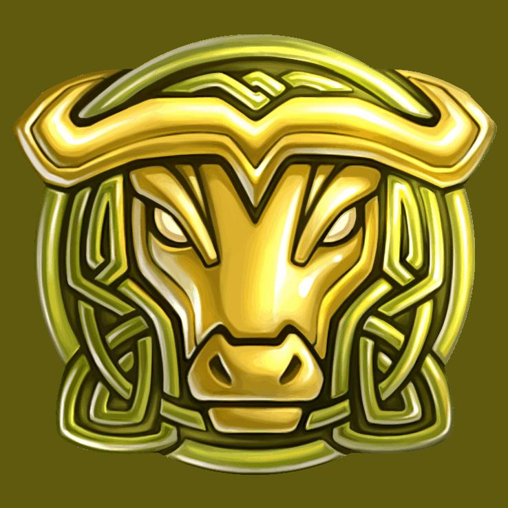 Secret of Stones video slot - Bull symbol
