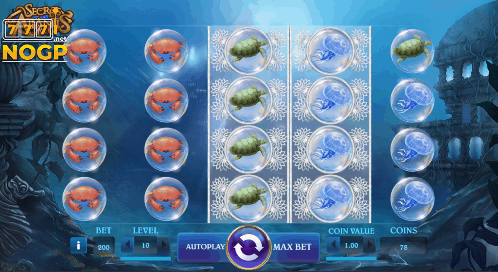 Secrets of Atlantis video slot screenshot