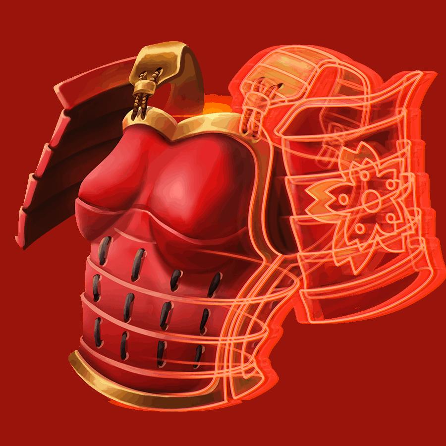 Shogun of Time video slot - Armor symbol