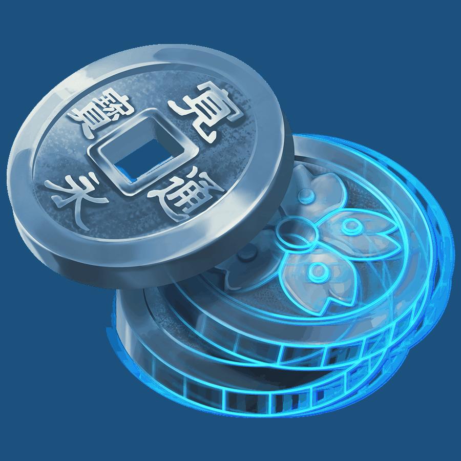 Shogun of Time video slot - Coins symbol