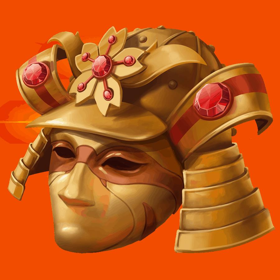 Shogun of Time video slot - Helmet symbol
