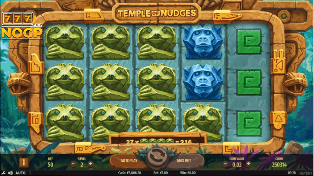 Temple of Nudges video slot van NetEnt